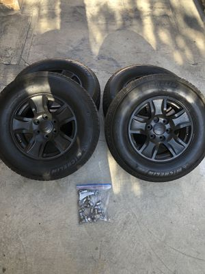 """17"""" Rims and Michelin Tires (4) for Sale in Los Angeles, CA"""