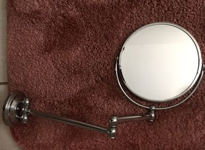 "Brass Chrome 8"" Wall Mount Swing Arm 2-Sided Magnifying Mirror for Sale in Brooklyn, NY"