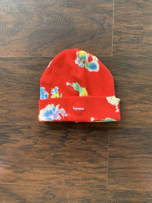 Supreme Red Splatter Dyed Beanie for Sale in Galloway, OH