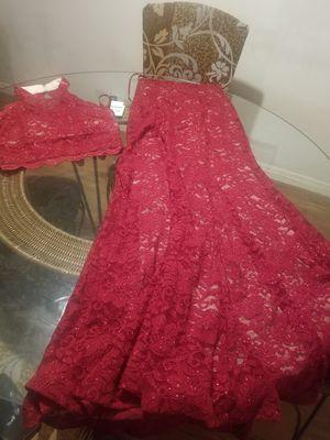 Dark red 2 piece prom dress for Sale in Austin, TX