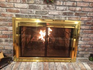 Beautiful fireplace glass doors and screen doors for Sale in Merrick, NY