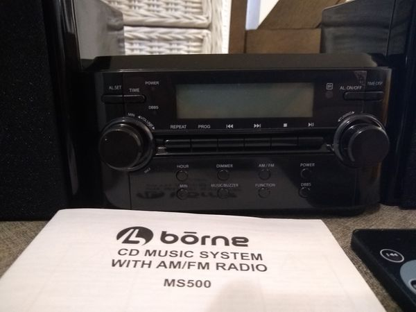 Borne Compact CD Player Stereo with AM/FM Tuner