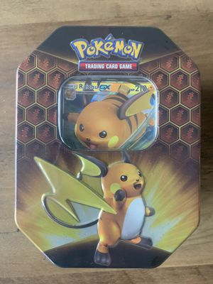 Pokemon Hidden Fates Raichu-GX Tin (Brand New / Factory Sealed) for Sale in Pinellas Park, FL