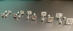 Diamond Cut Square Earrings ( Screw Backs ) for Sale in Houston, TX