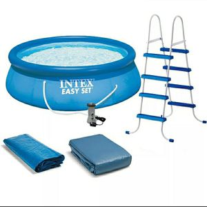 💦 NEW INTEX 15ft x 48in Easy Set with Filter, ladder, Cover, Ground Tarp for Sale in Corona, CA