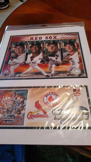 2004 Red Sox pitchers matted photo for Sale in Bangor, ME