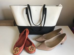 Size:6.5 Tory Burch and Kate Spade shoes with Kate Spade Handbag for Sale in Arlington, VA