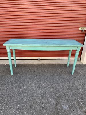 Beautiful antique rustic design green mint table for Sale in Lake Elsinore, CA