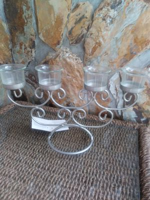 Silver Sparkle 4 Glass Candle Holder for Sale in Largo, FL