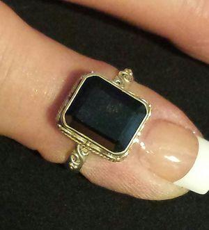 Thai Black Spinel Ring in Sterling Silver for Sale in Lawrenceville, GA