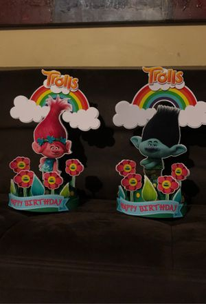 Trolls center pieces for Sale in Miami, FL