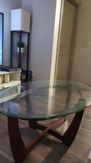 Glass coffee table and glass side table for Sale in Austin, TX