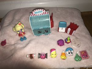 shopkins candy collection with Popette doll . for Sale in Silver Spring, MD