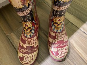 Ed Hardy Rain Boots for Sale in Fort Worth, TX