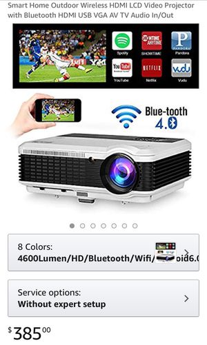 Brand new in box ($385 on Amazon) 2019 Updated Bluetooth Android Wifi LED Projector Airplay Miracast Full HD 1080P Support 4600 Lumens Smart Home Out for Sale in Torrance, CA