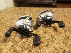 2 Thirteen Fishing Origin Chrome Baitcaster Reels for Sale in Houston, TX