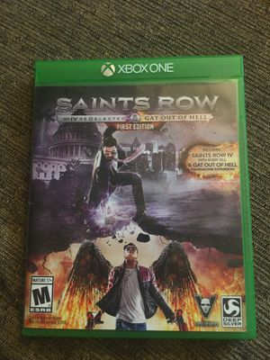 Saints row IV and gat out of hell for Xbox one for Sale in San Diego, CA