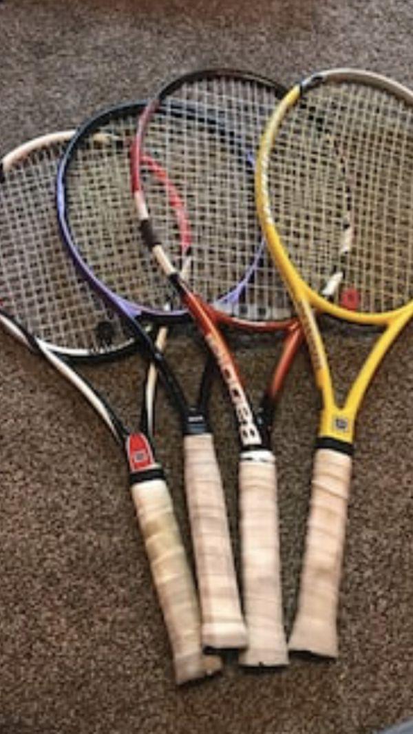 Couples Wilson Tennis Rackets $25 each or $75 all 4