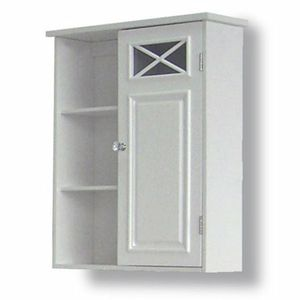 Prairie Wall Cabinet with Side Shelves and Door, White for Sale in Riverside, CA
