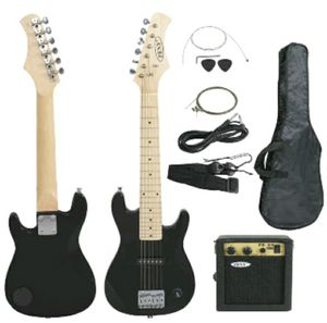 """Kids Beginner Guitar With Amp Case 30"""" Electric Guitar Accessories Pack Black for Sale in Los Angeles, CA"""