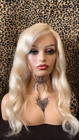 Lace front Blonde platinum human hair wig for Sale in Lake Elsinore, CA