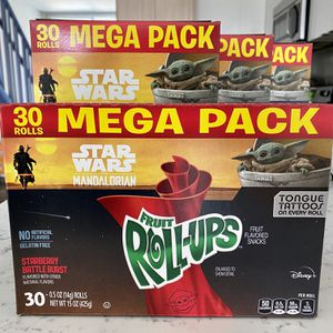 2020 Disney Star Wars The Mandalorian The Child Baby Yoda Fruit Roll-Ups Sealed for Sale in Los Angeles, CA
