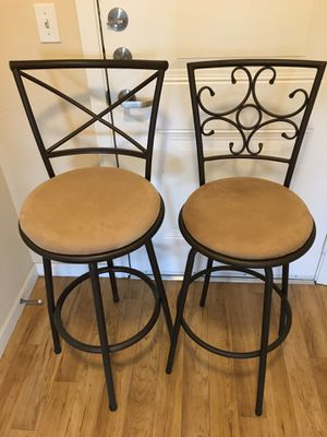 "Bar stools (30"" height from floor to bottom cushions); 2 pieces for $35 for Sale in Renton, WA"
