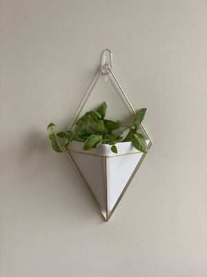 Ceramic/Brass Geometric Wall Decor Container for Sale in Rockville, MD