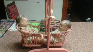 Antique twin dolls with swing for Sale in Davie, FL