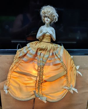Rare 1920's Antique China Half Doll Bed Lamp for Sale in Burlington, NC