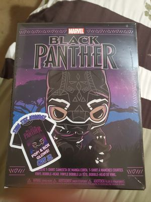 Black Panther t-shirt and Funko Pop box set for Sale in Crestview, FL