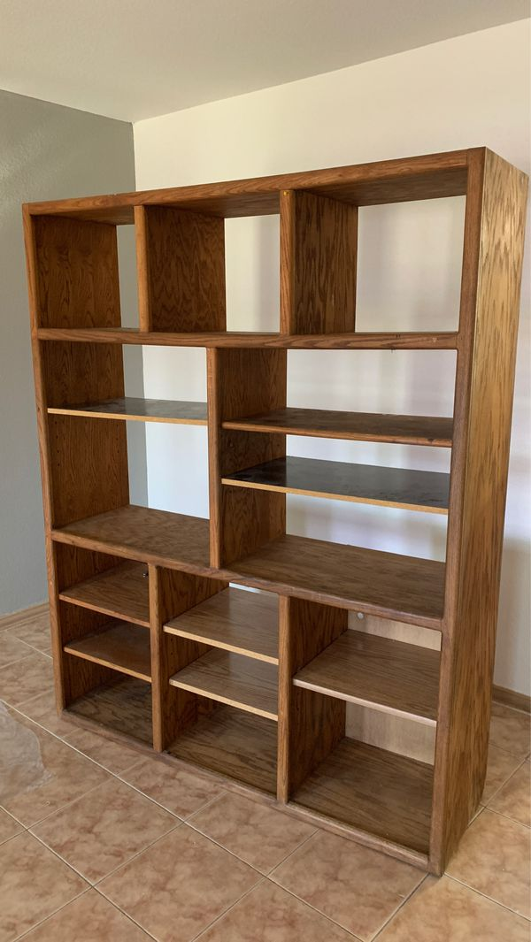 storage / entertainment stand with multiple shelves