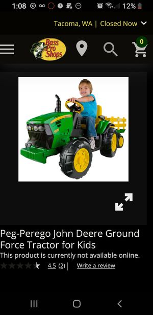 Prego John Deere Tractor, Power Wheels for Sale in Arlington, WA