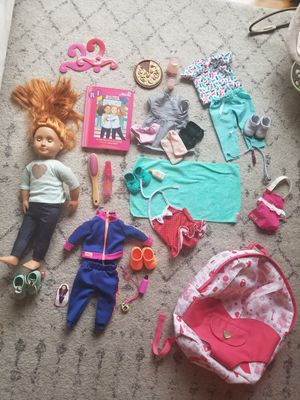 'Our Generation' Target doll w/accessories & Backpack for Sale in Camas, WA
