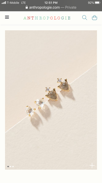 Anthropologie post earrings sets, Brand New