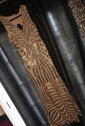 Gold Sequin Prom/Party Dress for Sale in Hayward, CA