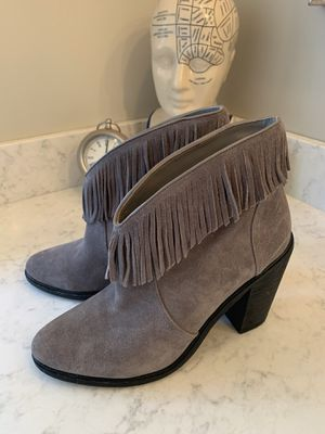 Joie Fawn Suede Fringed Black Heeled Booties for Sale in Tigard, OR