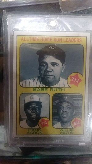 Babe Ruth Hank Aaron Willie Mays all-time home-run leaders card number one for Sale in Balfour, ND