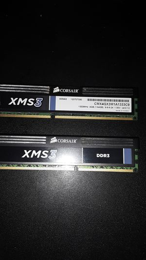 2 Corsair 4g memory stick ( 8 gig total ) for Sale in Athens, PA