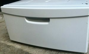 Two white pedestal with storage drawer for Samsung washer and dryer for Sale in Houston, TX