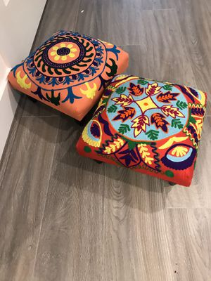 Crocheted Wooden Foot Stools for Sale in Washington, DC