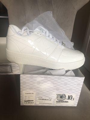 Bape Sta Low Patent White for Sale in Tamarac, FL