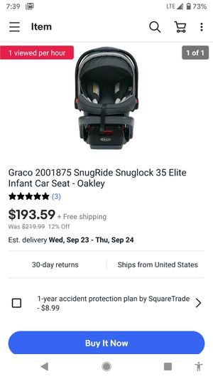 Car seat 40 cash first come first serve for Sale in Waco, TX
