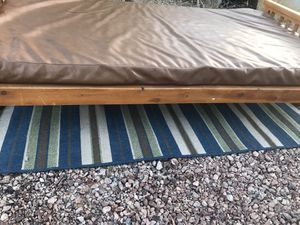 wood patio futon with cushion ( bed and sofa) 6' for Sale in North Las Vegas, NV