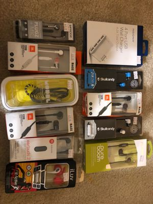 Headphones and wall charger for Sale in Gaithersburg, MD