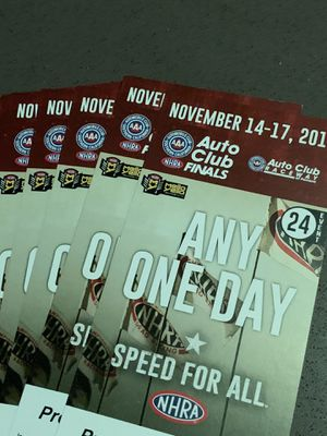 NHRA Any One Day Nov 14-17 GA Tickets for Sale in Brea, CA
