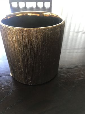 12 Gold Flower Pots For Real Or Fake Flowers for Sale in Santa Monica, CA