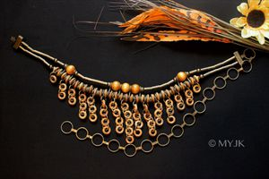 *RARE* Vintage Handmade Metal & Wood   Chain Link Tribal Waist Belt   Body Chain for Sale in Wichita, KS