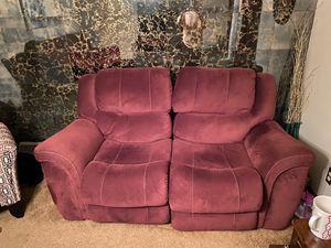 Bucket seat reclining sofa and loveseat. for Sale in Buffalo, NY