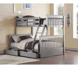 Twin/Full Bunk Bed w/2 Drawers - 37755 - Gray GHKDK for Sale in Ontario, CA
